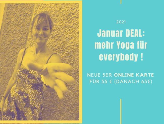 Unser Special zum Auftakt des Jahres: Der Januar DEAL im everybodyoga